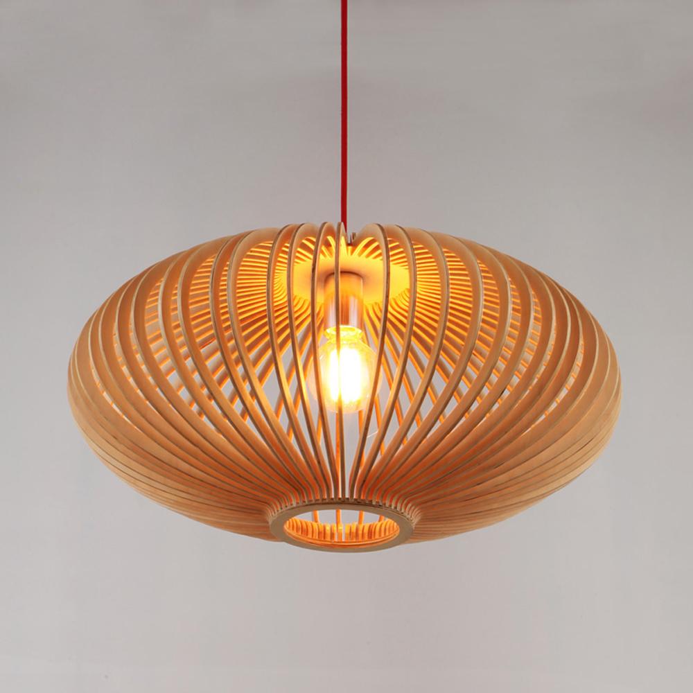 Modern Wooden lantern Pendant Lighting