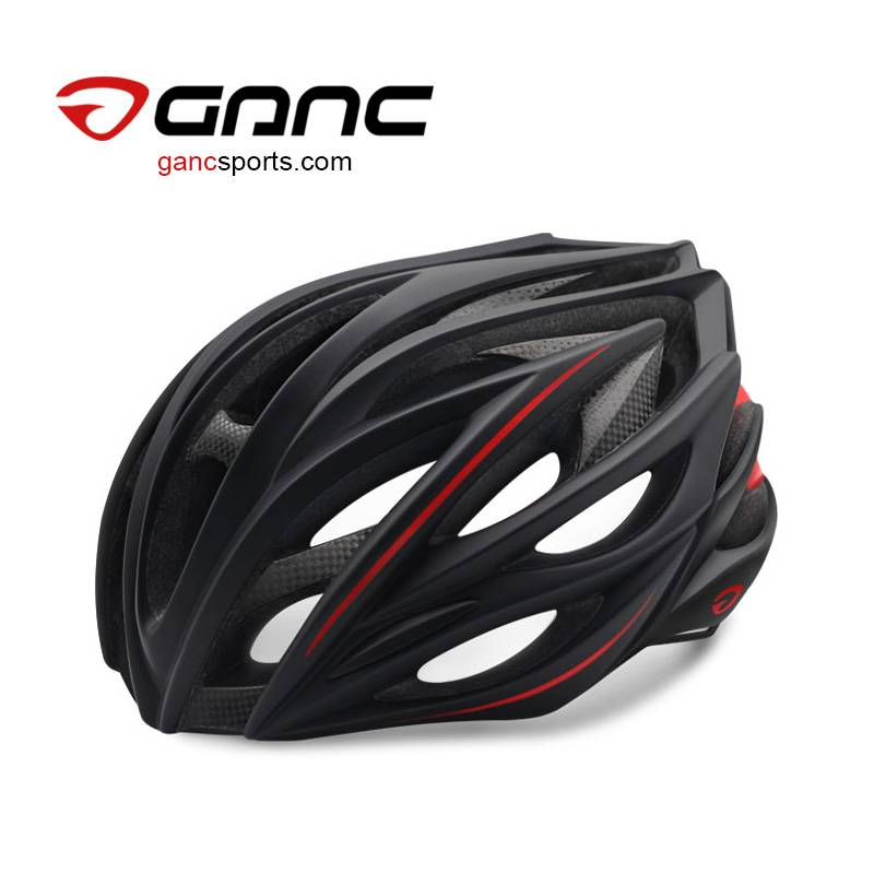 Ganc Unique Carbon Fiber Road Bike Helmet - Black Swan