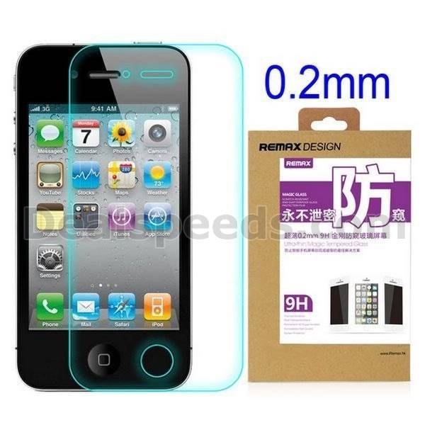 REMAX Privacy Anti-Spy 9H 0.2mm 2.5D Tempered Glass Screen Protector For iPhone4S