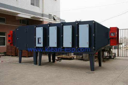 Electrostatic oil mist filter for industrial air pollution control