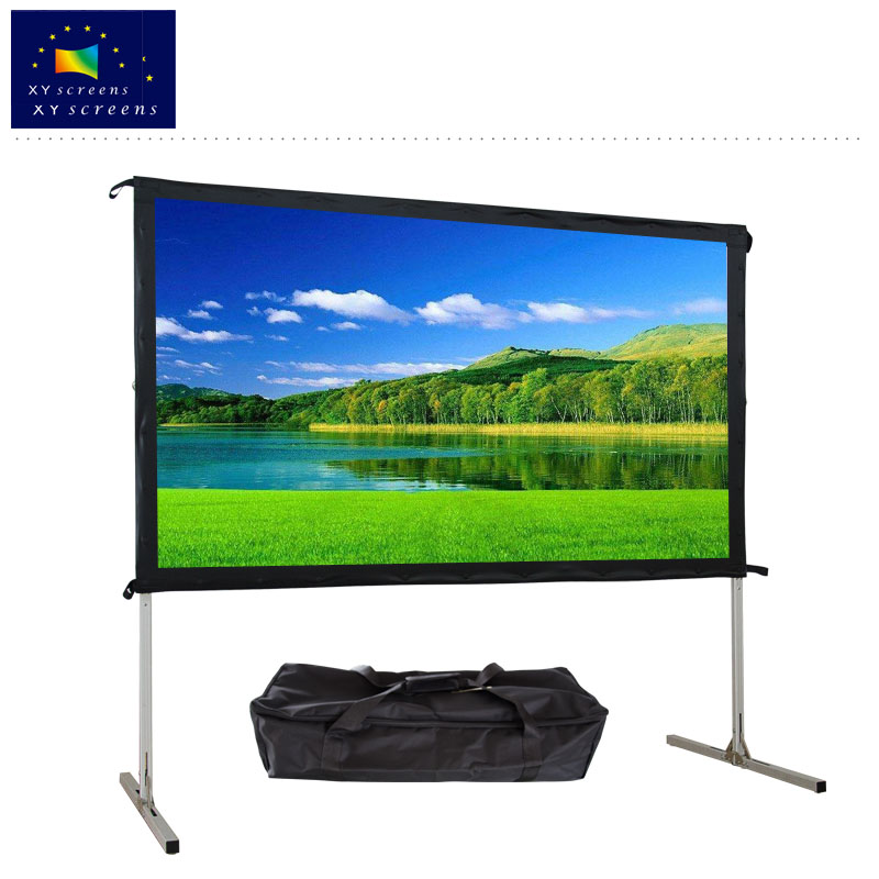 80-135 inch portable folding HD aluminium frame projector screen outdoor