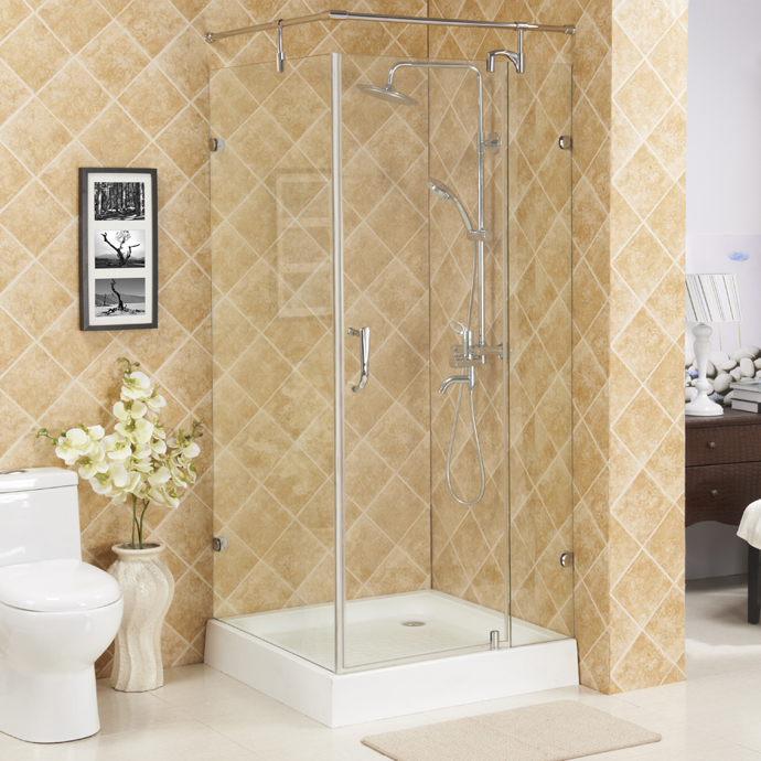 Hinge square shower enclosure,without tray glass shower room,wholesale shower enclosures