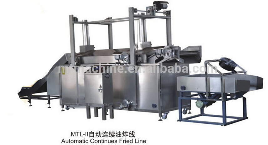snack Food continous/batch fryer machine