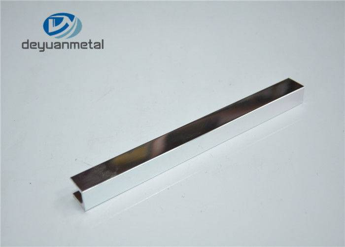 Mirror Surface Aluminium Shower Profiles Alu Extrusion Frame For Decoration