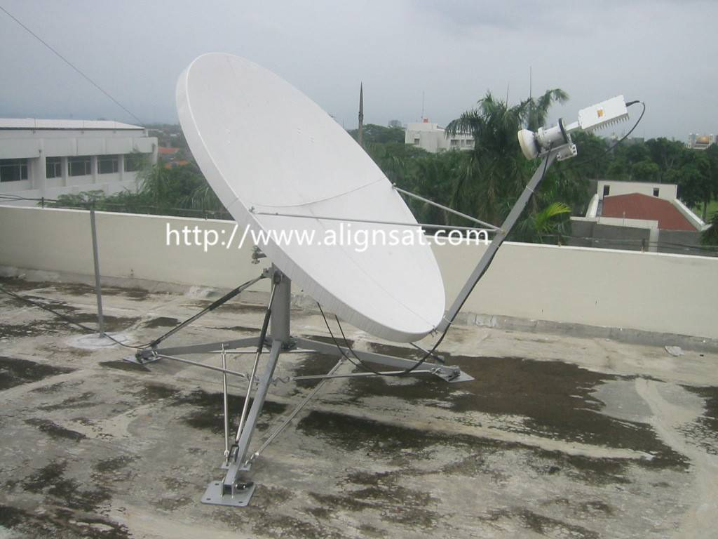 Alignsat 1.8m C-band & Ku band Fiber Glass Flyaway Antenna