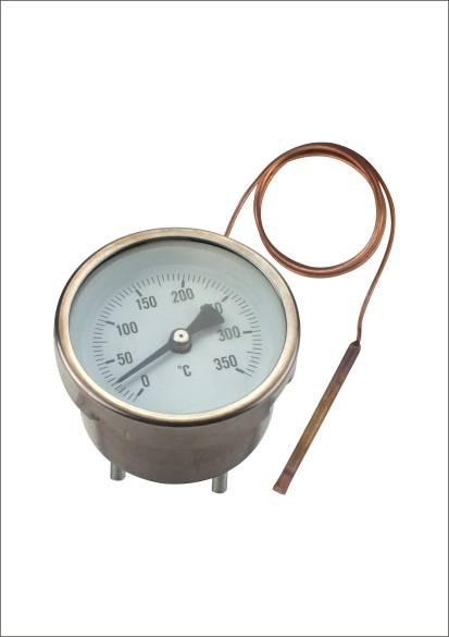 industrial food thermometer with capillary tube bimetal oven