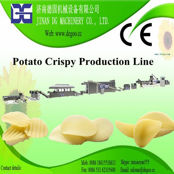 Extruded Potato Crispy Chips Snack Pellets Machine Production Line