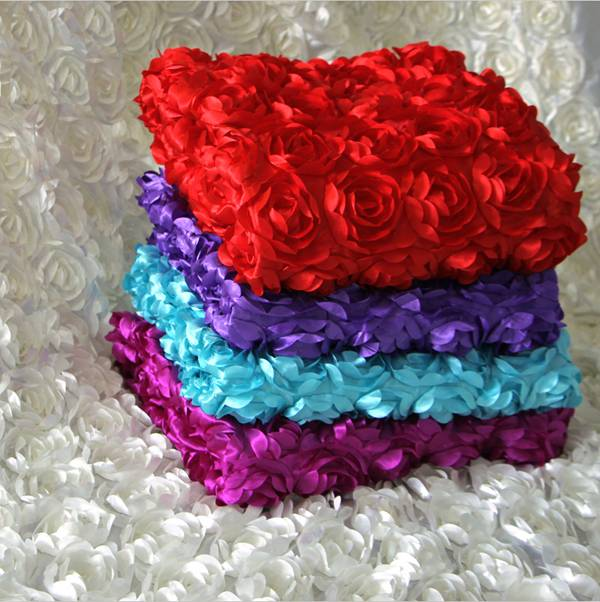 Rose flower carpet props wedding decoration background