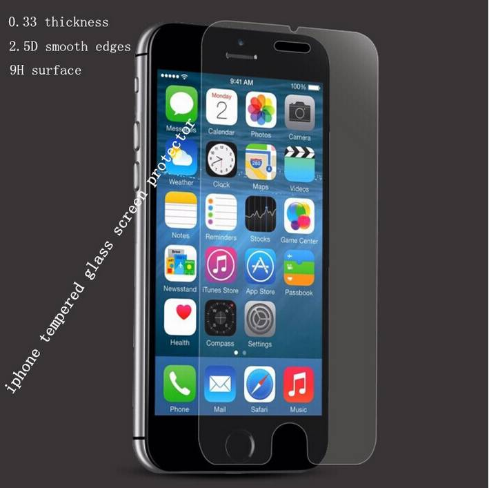 Hot sale 9H hardness 0.33mm thickness full coverage tempered glass screen protector for phone