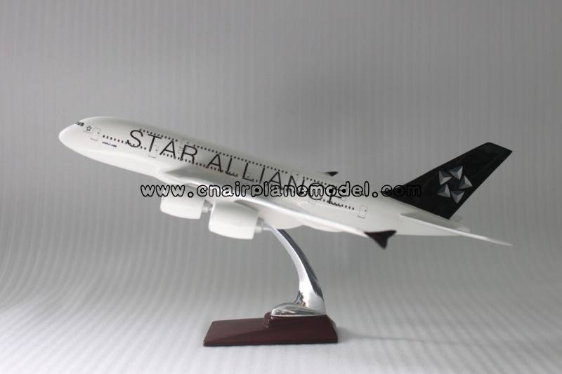 airplane model A380 Star Alliance