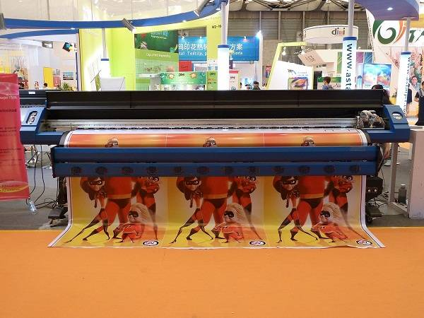 A-Starjet Large Format Solvent Printer with two Epson DX7 head CMYK inks