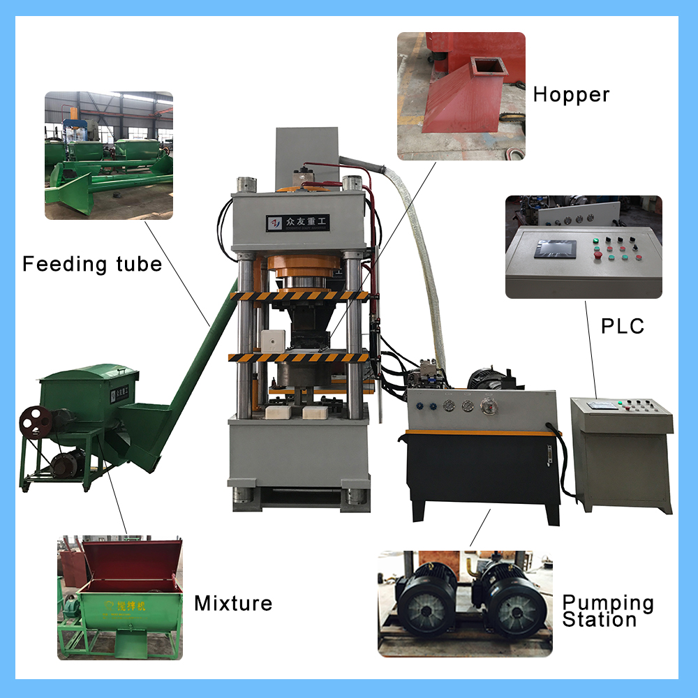 Cattle Licking Animal Salt Mineral Block Hydraulic Making Machine