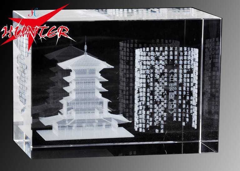 Laser Internal Carving Crystal,K9 Chinese Famous Attractions Crystal