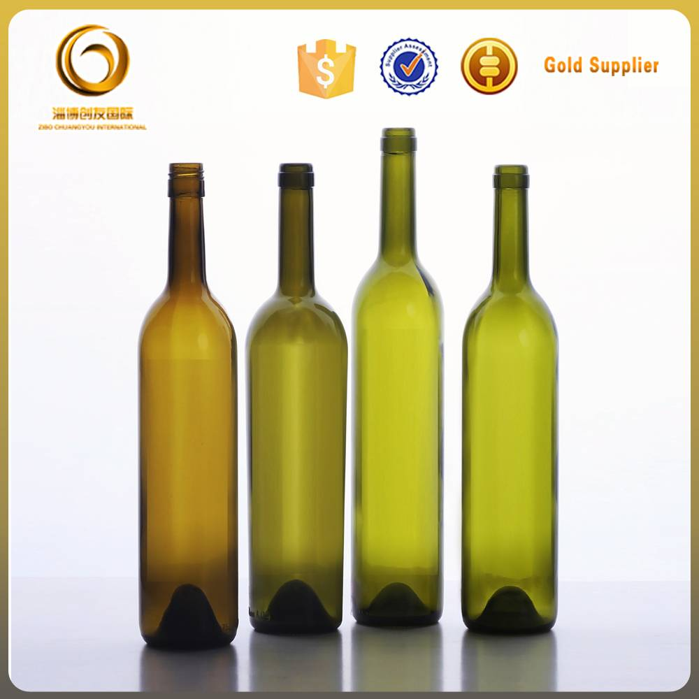 cheap empty green glass wine bottles 750ml