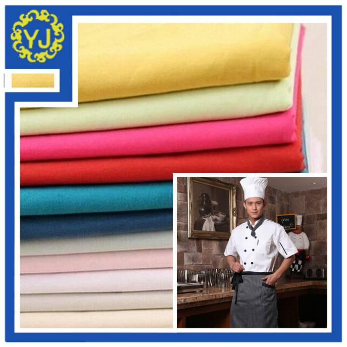 dyed poly cotton uniform fabric for hotel uniform