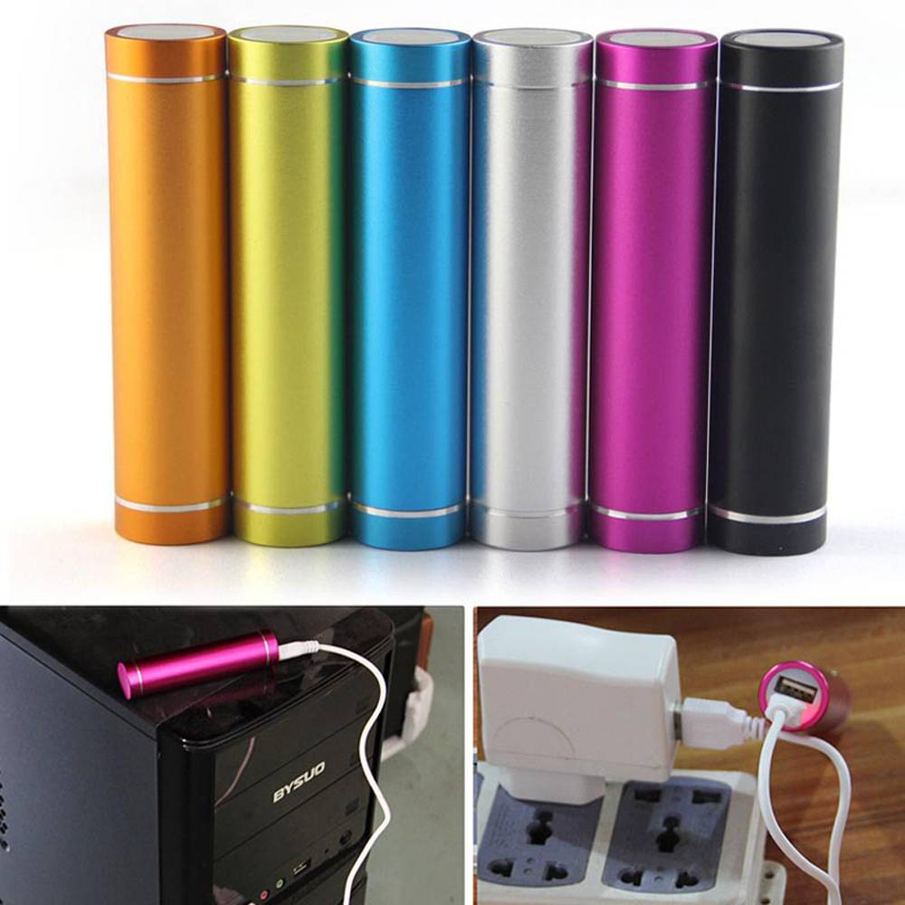 round tube power bank 2600mah