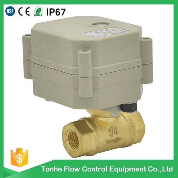 OEM ODM DN8 Electric brass ball valve wholesale price