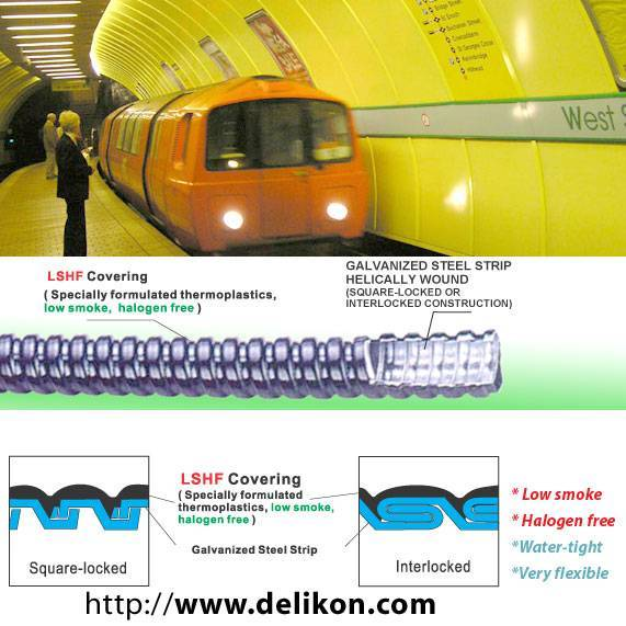 electric flexible conduits for cable management on subway systems