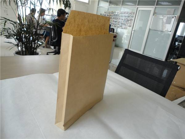 Chinese new kind warp and weft kraft paper bags