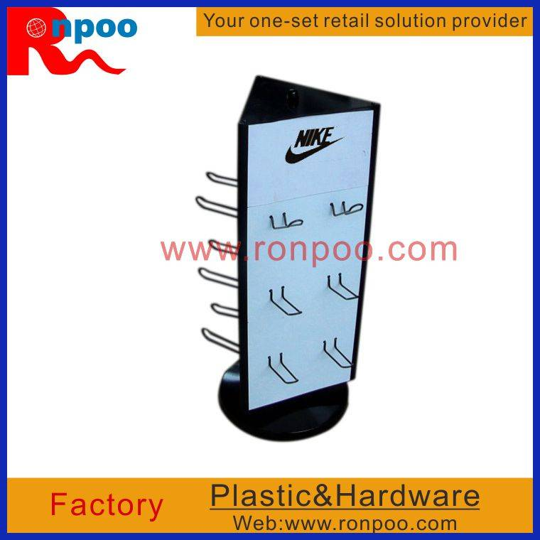 Display Rack for Hanging Items,Counter Top Slatwall Display,Shoe Free Standing Display,Shoe Fitting,