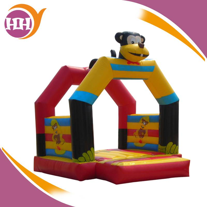 high quality animal monkey inflatable jumping area