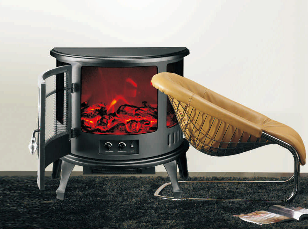 Electric Fireplace Heater 3 Sided Freestanding electric Stove SF-23 Log flame effect INDOOR HEATER r