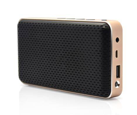 D7 alumnium bluetooth speaker with powerbank