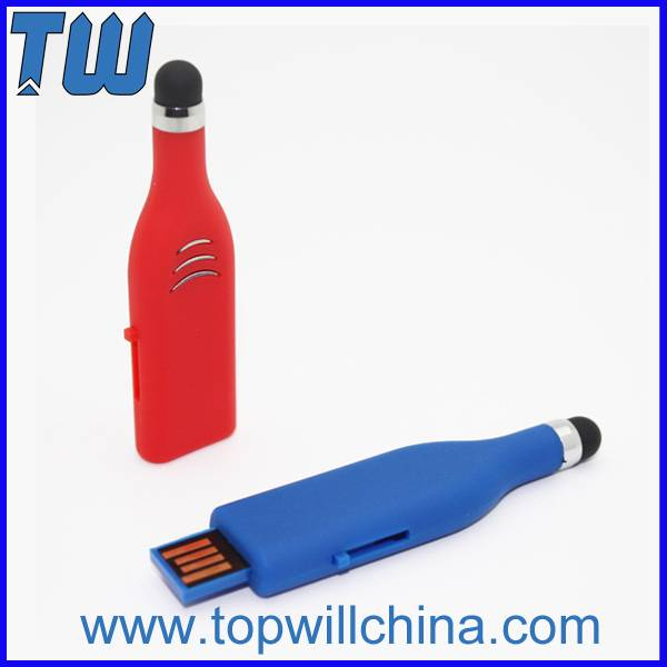 Plastic Stylus Pen Thumb Drives for Mobile Cell Phone Tablet