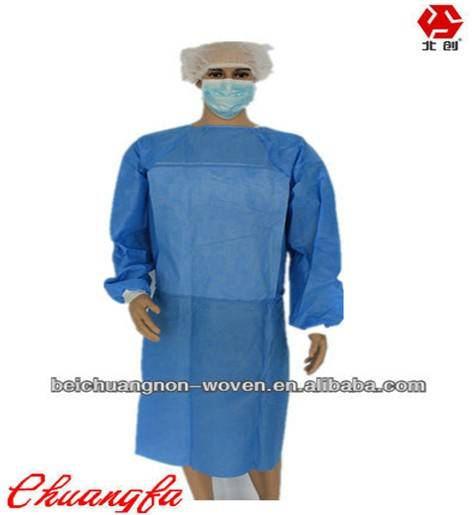 sms breathable nonwoven color fabric for surgical clothing
