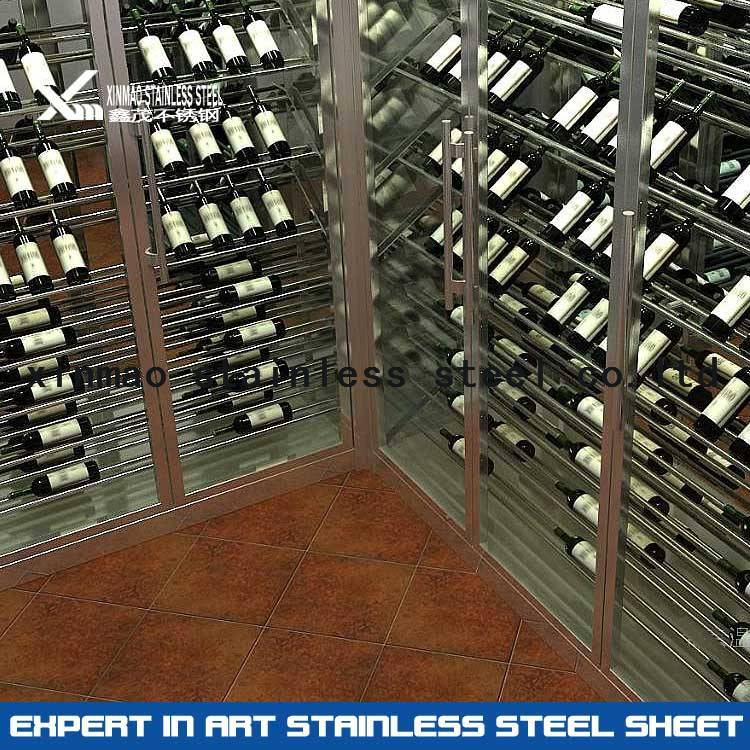304 customized stainless steel sheet for wine rack