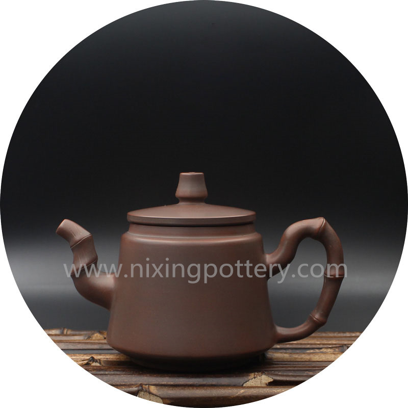 Ceramic Tea Pot Bamboo Single Pure Handmade Tea Ware Coffee Pot