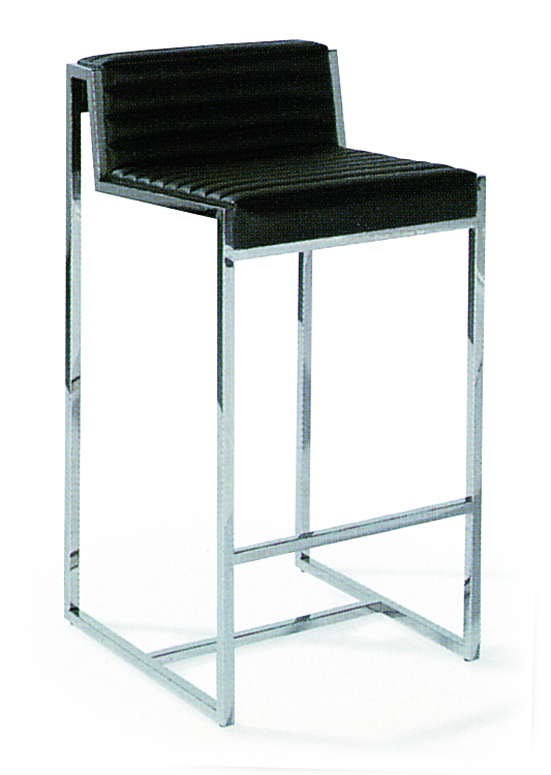 SHIMING FURNITURE MS-3214 Modern comfortable bar chair with stainless steel foot