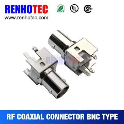 Female Straight BNC Connector For PCB Mount