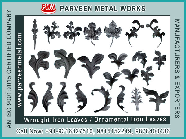 Wrought Iron Leaves