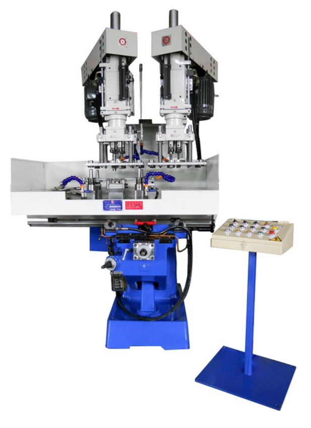 Drilling & chamfering compound machine with multi-spindle