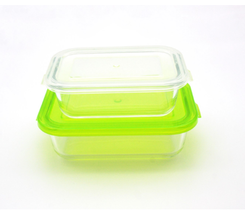top airtight borosilicate food storage glass container