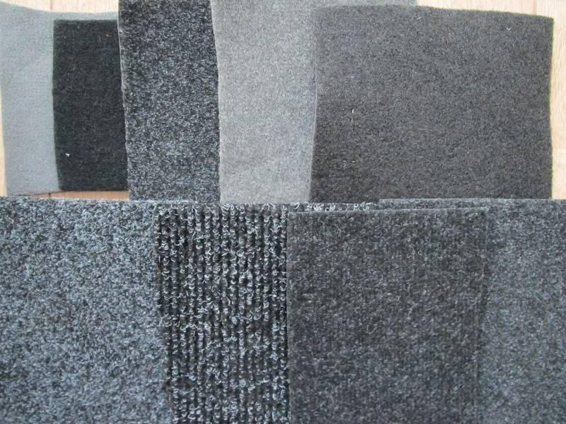 Car floor mat & automotive interior carpet (backing: pvc/tpr grabber nibs/crumb rubber )
