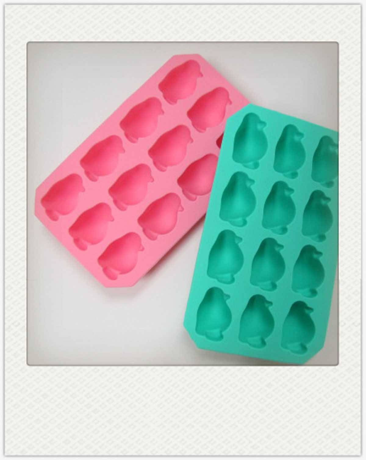 Silicone Penguin Ice Cube Tray Maker Jelly Mold Mould