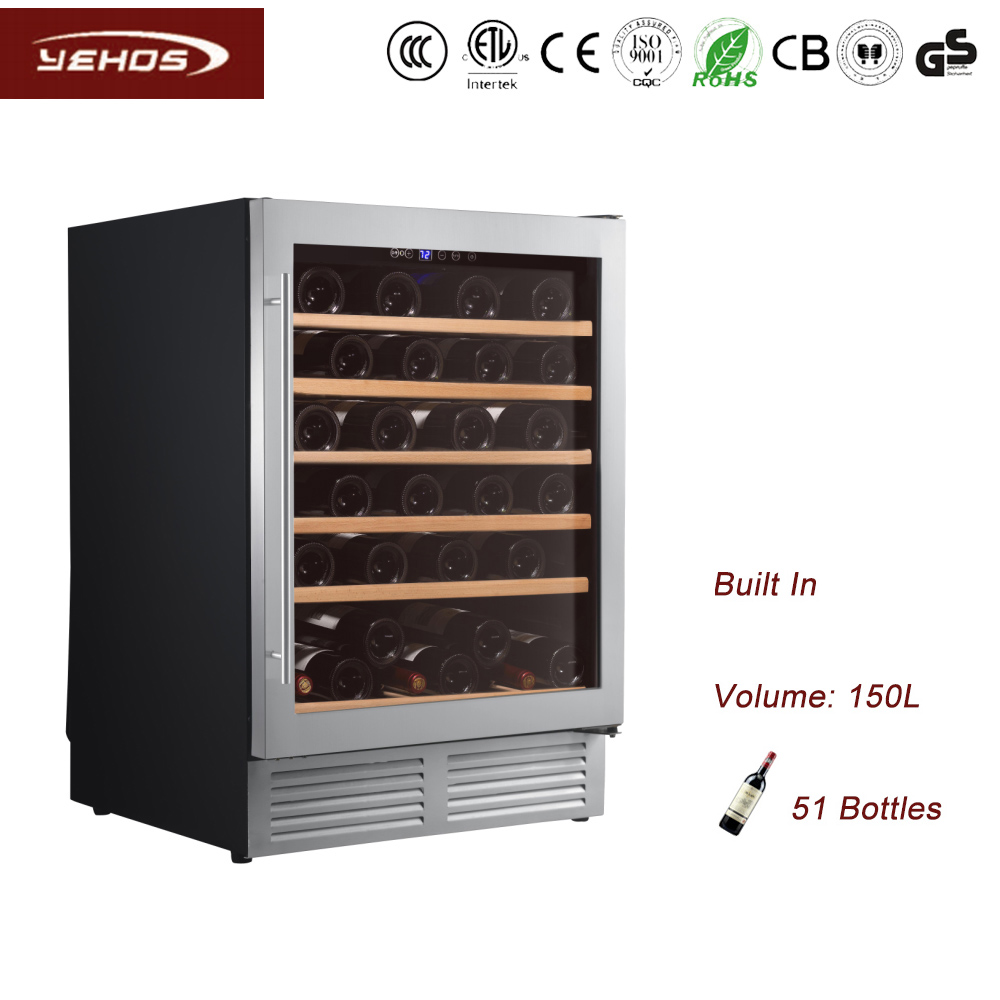 YEHOS 51 bottles built-under wine coolers with compressor cooling type