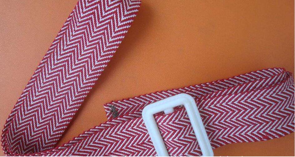 Customized bi-color herringbone polyester webbing