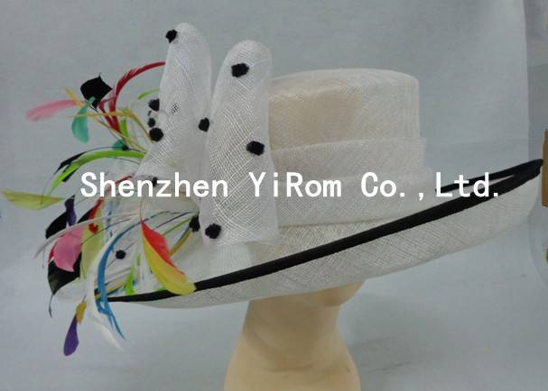 YRSM14078 cocktail hat,bridal hat,sinamay hat,church hat,church hat,kentucky derby hat,race hat