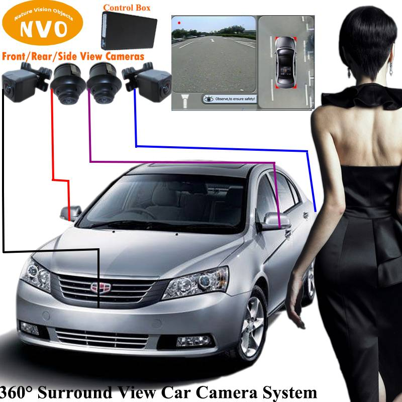 Hot Sale Wholesale Promotional Discount New 360 Degree Around View Rear View Camera System With DVR