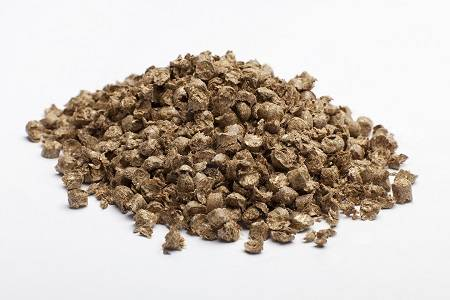 Chopped wheat straw pellets bedding