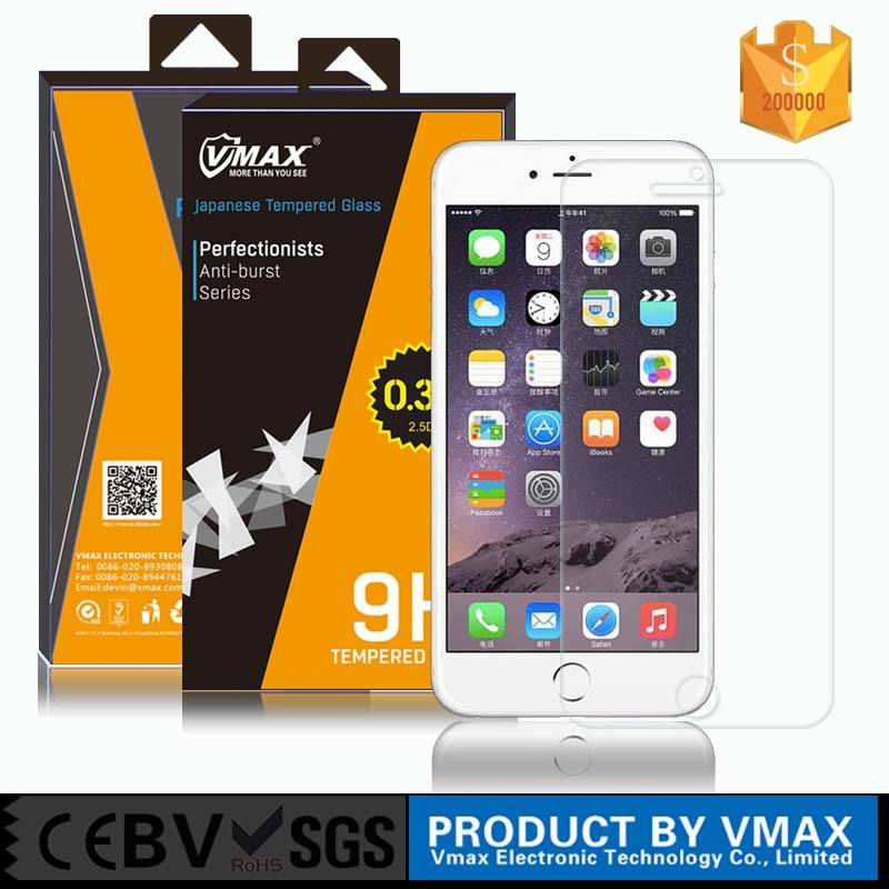 Best Price !! Ultra Thin 2.5D 9H Vmax Tempered glass screen protector for iPhone 6 / iPhone 6 screen