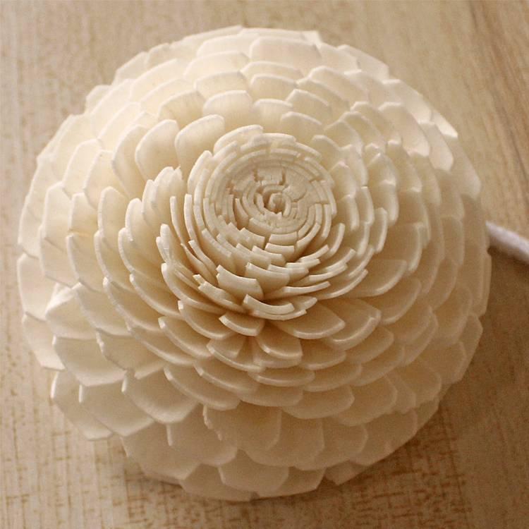 Artificial Chrysanthemum Sola Wood Paper Flower
