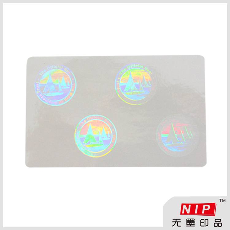 High Security ID Card Transparent Hologram Stickers