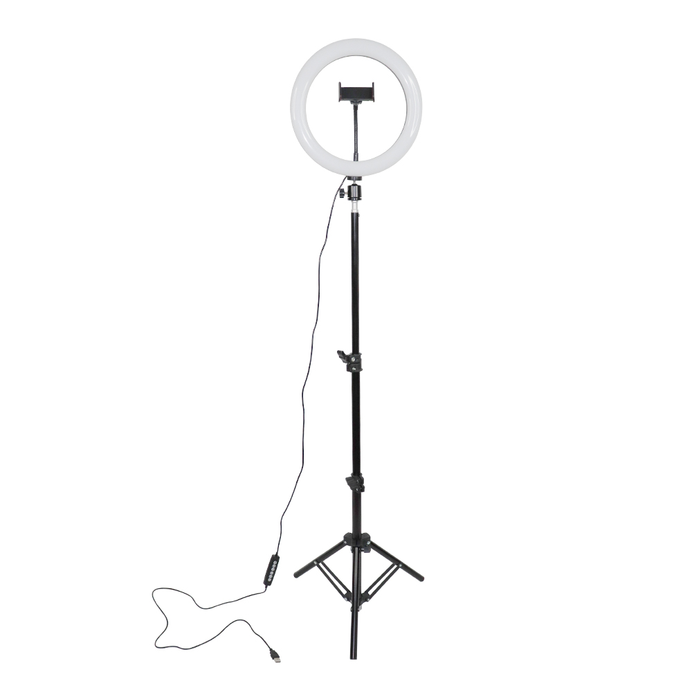Multiple Colors Adjustable RGBW 10 inch LED Ring Light With Stand Photographic Lighting Studio