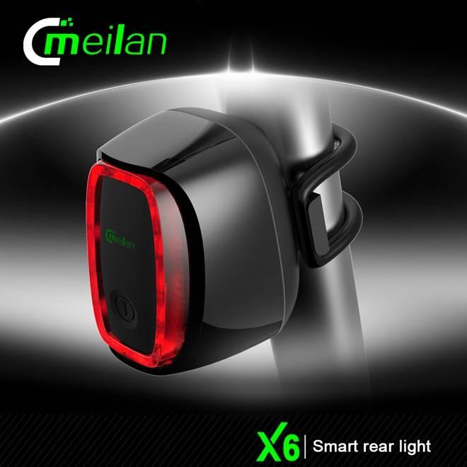 Factory Meilan X6 USB Reachargeable LED Bike Rear Tail Light Warterproof 4 Colors Bike Accessories