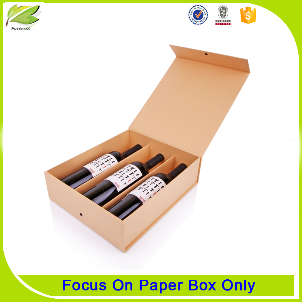 Magnet closure wine glass bottle packaging boxes