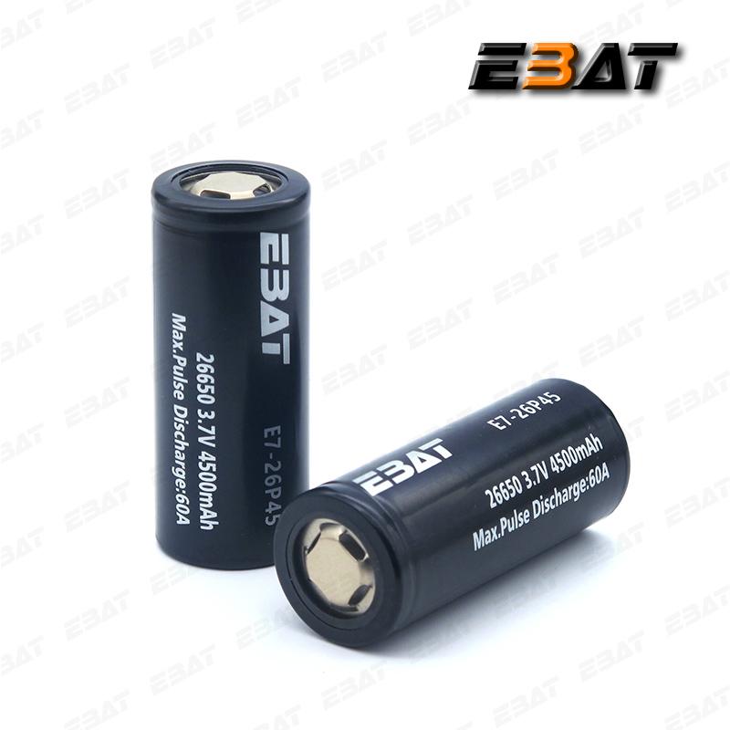 EBAT 26650 4500mAh 60A High Drain Vape Battery